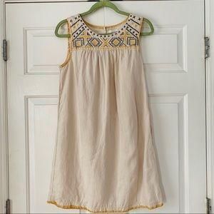 C&C California Linen Stitched Sleeveless Dress Sm